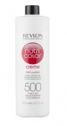 Краска для волос без аммиака Revlon Professional Nutri Color Creme 500 пурпурно-красный 750мл