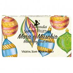 FLORINDA Мыло растительное, ежевика и мускус / Mora e Muschio 100 г