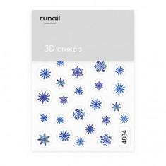 ruNail, 3D-стикер №4884 «Снежинки»