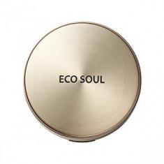 Пудра компактная золотая сменный блок THE SAEM Eco Soul Luxury Gold Pact 21 Light Beige(Refill)
