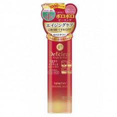 очищающий пилинг-гель с aha & bha с эффектом сильного скатывания для зрелой кожи meishoku detclear bright & peel peeling jelly