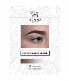 BIO HENNA PREMIUM Хна для бровей в капсулах, светло-коричневая 1 шт