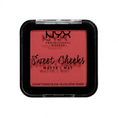 Румяна для лица NYX PROFESSIONAL MAKEUP SWEET CHEEKS BLUSH MATTE тон citrine rose