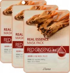 Тканевая маска с красным женьшенем JUNO Real essence mask pack (red ginseng) 25мл*3 шт