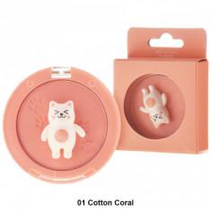 Румяна Tony Moly Bling Cat Powder Cheek 01 Cotton Coral 6,5г
