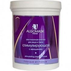Маска для лица водорослевая альгинатная стимулирующая женьшень ALGOMASK