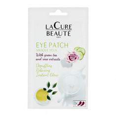 Патчи для глаз LA CURE BEAUTE гидрогелевые с экстрактом розы и зеленого чая 2 шт