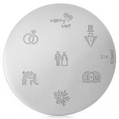 Konad, диск для стемпинга S14