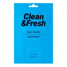Тканевая маска для охлаждающего и успокаивающего эффекта Eunyul Clean & Fresh Cool/Soothe Sheet Mask 22мл
