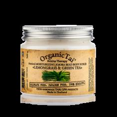 Скраб для тела с гранулами жожоба и маслами лемонграсса и зеленого чая Organic Tai Aroma Therapy Natural Moisturizing Jojoba Bead Body Scrub Lemongrass & Green Tea 200 г