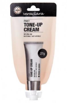 Тональный крем Veraclara Pinky Tone-up Cream розовый оттенок 27 г