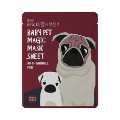 Маска-мордочка тканевая против морщинок Holika Holika Baby Pet Magic Mask Sheet Anty-wrinkle Pug 22 мл