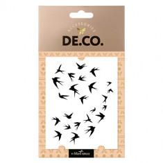 Татуировка для тела DE.CO. REAL TATTOO by Miami tattoos переводная Flock of birds