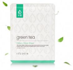 Тканевая маска для жирной и комбинированной кожи с зеленым чаем It'S SKIN Green Tea Watery Mask Sheet 17 г