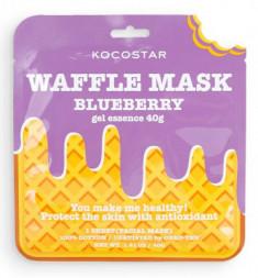 Маска вафельная противовоспалительная с экстрактом черники и полыни Kocostar waffle mask blueberry 40 г