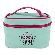Косметичка-чемоданчик LADY PINK мятная