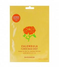 Тканевая маска успокаивающая с экстрактом календулы BARONESS Flower Mask Sheet Calendula 23 г