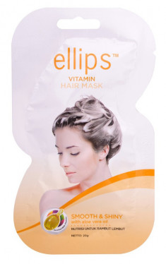 ELLIPS Маска с маслом алоэ вера и витаминами для светлых волос / Smooth & Shiny 20 г