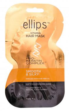 ELLIPS Маска с кератиновым комплексом для светлых волос / Pro-Keratin Smooth & Silky 18 г