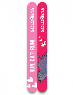 SOLOMEYA Набор пилок для натуральных и искусственных ногтей 180/220 / Run, Cat! Run!, 2 шт