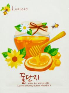 Тканевая маска с медом и пептидами L'arvore Honey Butter Mask Pack 25 г