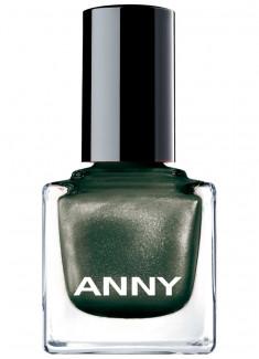 Лак для ногтей Темно зеленый с искрой ANNY