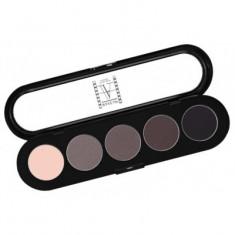 Палитра теней, 5 цветов Make-Up Atelier Paris T20 тона серого цветного