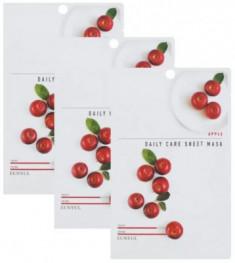 Набор Тканевых масок с экстрактом яблока EUNYUL APPLE DAILY CARE SHEET MASK 22г*3шт