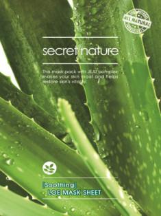 Тканевая маска для лица с алоэ Secret Nature Soothing Aloe Mask Sheet 25 мл