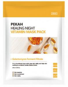 Тканевая маска с витаминами Healing Night Vitamin Mask Pack 25мл*5шт Pekah