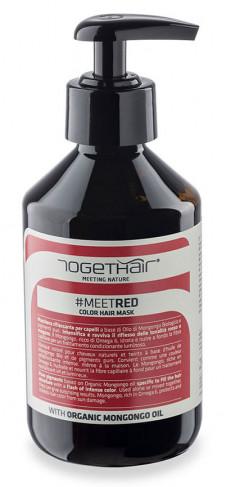 TOGETHAIR Маска оттеночная для волос, красная / MEETRED Color Hair Mask 250 мл