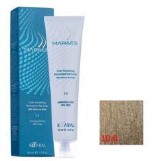 Крем-краситель стойкий без аммиака Kaaral Maraes Nourishing Permanent Hair Color 10.0 очень светлый блондин платиновый 60 мл