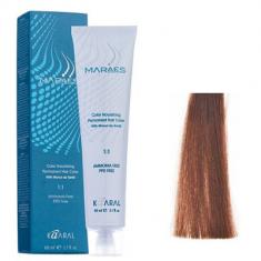Крем-краситель стойкий без аммиака Kaaral Maraes Nourishing Permanent Hair Color 7.85 коричнево-махагоновый блондин 60 мл