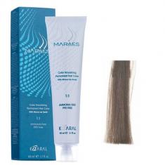 Крем-краситель стойкий без аммиака Kaaral Maraes Nourishing Permanent Hair Color 7.1 пепельный блондин 60 мл