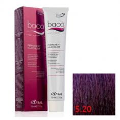 Крем-краска Kaaral Baco Color 5.20 светлый фиолетовый каштан 100 мл