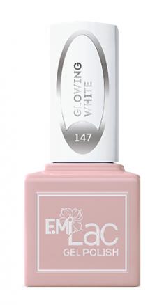 E.MI 147 WEC гель-лак для ногтей, Светящийся белый / E.MiLac 6 мл