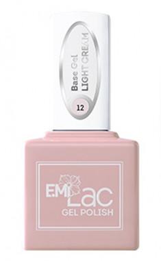 E.MI База камуфлирующая для ногтей, № 12 светло-кремовый / E.MiLac Base Gel 9 мл