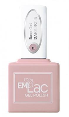 E.MI База камуфлирующая для ногтей, № 11 темно-розовый / E.MiLac Base Gel 6 мл