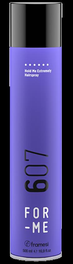 FRAMESI Лак экстрасильной фиксации для волос / FOR-ME 607 HOLD ME EXTREMELY HAIRSPRAY 500 мл
