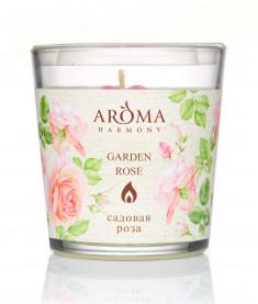 AROMA HARMONY Свеча ароматическая Садовая роза 160 г