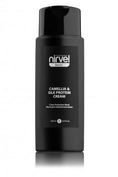 NIRVEL PROFESSIONAL Маска-блеск с экстрактом камелии и протеинами шелка для окрашенных волос / MASK-SHINE COLOR PROTECTION CAMELLIA & SILC PROTEIN 250 мл