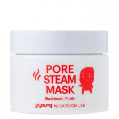 разогревающая маска от черных точек jj young pore steam mask