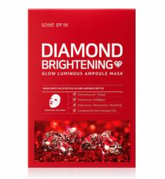 Маска тканевая осветляющая Diamond Brightening Calming Glow Luminous Ampoule Mask Some By Mi