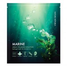 маска гидрогелевая для лица nature republic aqua collagen solution marine hydro gel mask