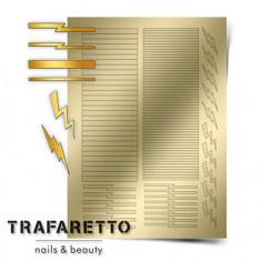 Trafaretto, Металлизированные наклейки GM-05, золото