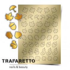 Trafaretto, Металлизированные наклейки FL-04, золото