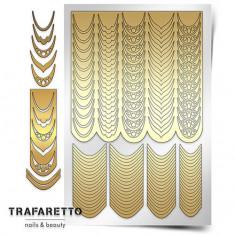 Trafaretto, Трафареты «Френч и лунки. Грация»