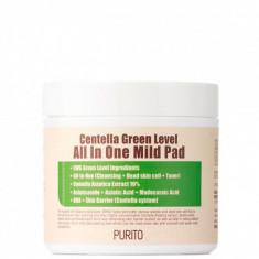 пады с центеллой азиатской purito centella green level all in one mild pad