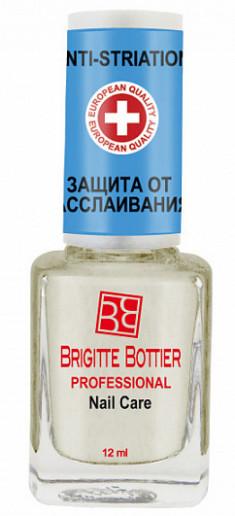 BRIGITTE BOTTIER Средство против слоящихся и бороздчатых ногтей / Natural Anti-Striation 12 мл