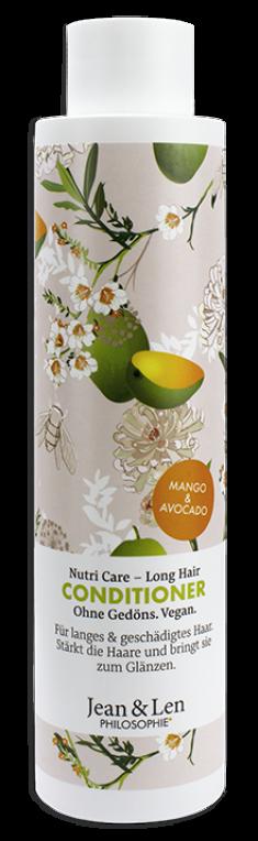 JEAN & LEN Кондиционер укрепляющий с экстрактом манго и органическим маслом авокадо для длинных волос / PHILOSOPHI CONDITIONER NUTRI CARE LONG HAIR 300 мл